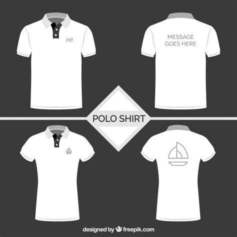 white polo shirt collection vector free