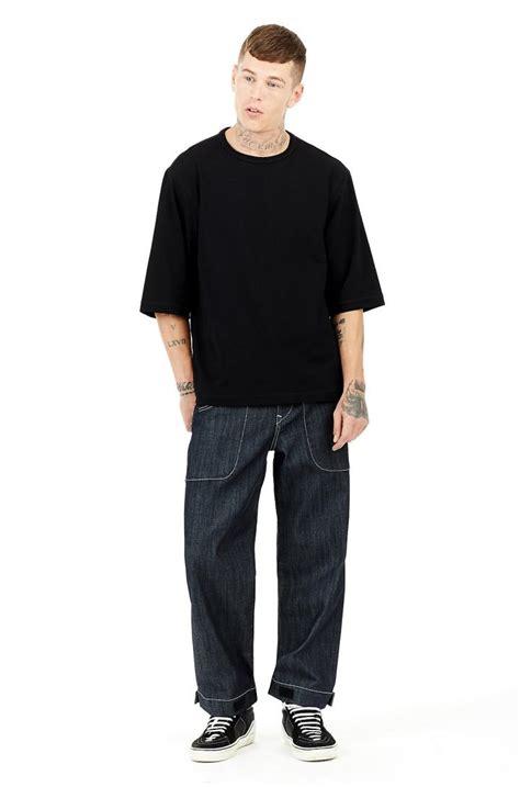 mens true religion clothing oversized ss lycra black
