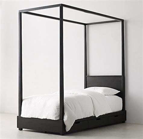 black canopy beds callum 6 drawer storage black canopy bed
