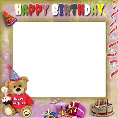 Lilin Musik Happy Birthday happy birthday frames photo frames birthday greeting cards