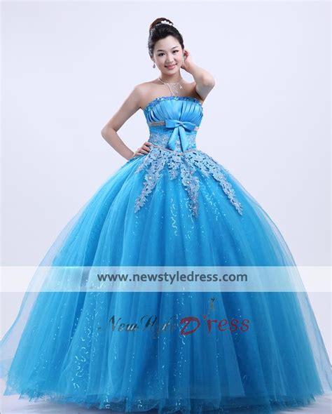sea themed quinceanera dresses ocean blue ball gown beautiful bow chest appliques