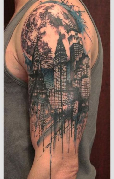 all city tattoo cityscape inked cityscapes and