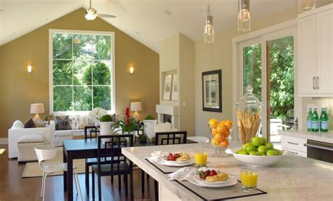 open floor plan kitchen home decorating trends homedit how to separate zones sharing the same floor space using paint