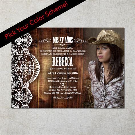 imagenes de quinceañeras vaqueras western photo quincea 241 era invitation invitacion de xv a 241 os