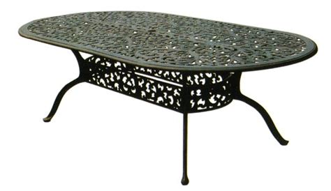 Oval Cast Aluminum Patio Table Patio Furniture Table Dining Cast Aluminum 96 Quot Oval Series 80