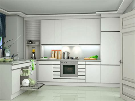 White Kitchen Base Cabinets by
