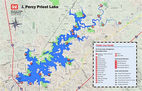 locations in nashville tn lake map my