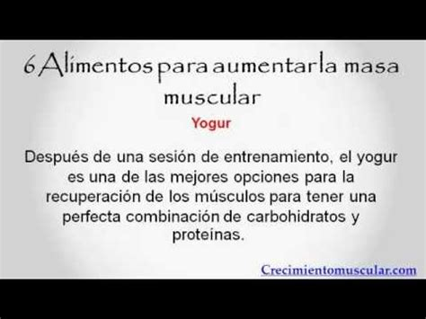 alimentos  aumentar  muscular youtube
