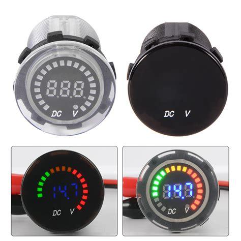 lcd boat gauges blue led digital display dc 12 24v car boat gauge auto