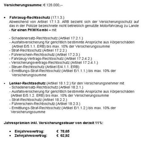 Sterreich Kfz Versicherung Vergleich by Richtigstellung Zum Kfz Rechtsschutz Vergleich