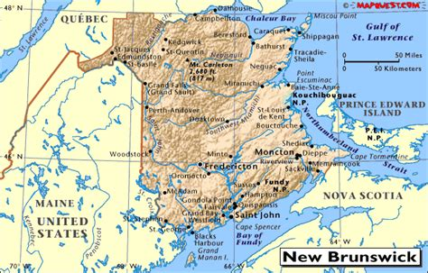 maps new brunswick canada canada provincial map of new brunswick