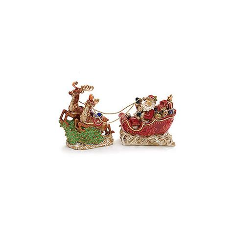 Decorative Sleigh by Burton Burton Decorative Santa In Sleigh Pulled Figurine