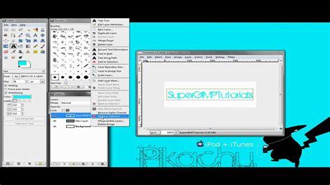 gimp creating a border gimp how to make text border youtube