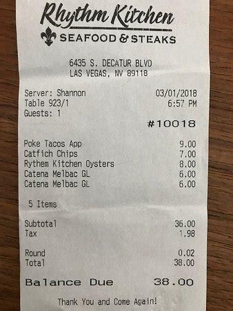 Rhythm Kitchen Menu by Rhythm Kitchen Seafood Steaks Las Vegas Menu Prices