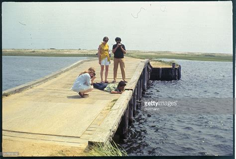 Chappaquiddick Bridge Today Curious Tourists Photograph The Spot On Bridge Chappaquiddick Island Where Sen Edward