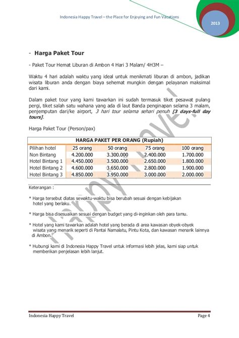 Membuat Proposal Travel | contoh proposal penawaran original