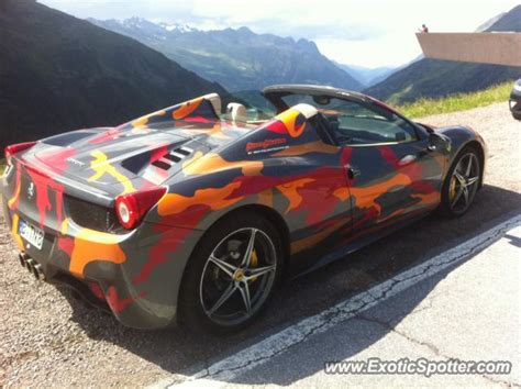 Ferrari 458 Italy by Ferrari 458 Italia Spotted In Northern Italy Italy On 07