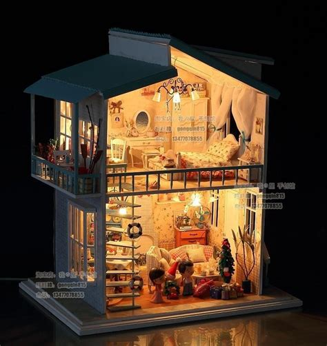 beach doll house diy led light quot cradle on the beach quot deluxe house dollhouse and furnitures kit in doll