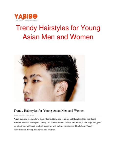 pdf photo of a haircut for 10 year old boys trendy hairstyles for young asian men and womenpdf