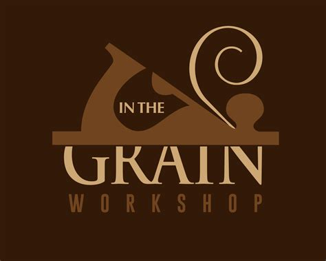 grain wood workshop custom logo design