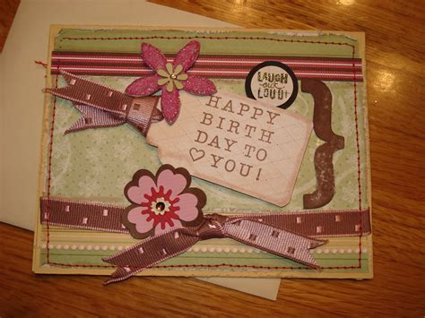 Free Handmade Cards Ideas - marias handmade cards happy birthday handmade card idea