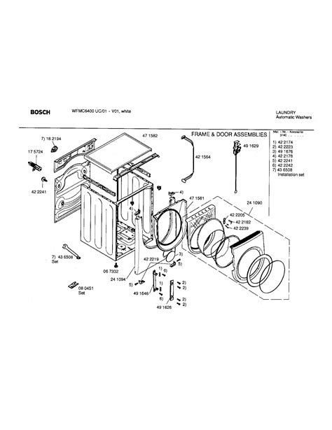 bosch washing machine parts diagram 28 images washing