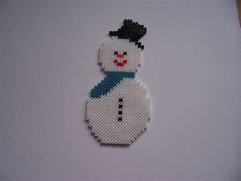 hama snowman snowman via flickr hama