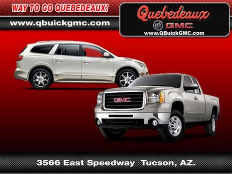 quebedeaux buick gmc tucson az 85716 car dealership