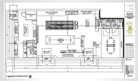small store floor plan west seattle blog delridge grocery shows off its plan
