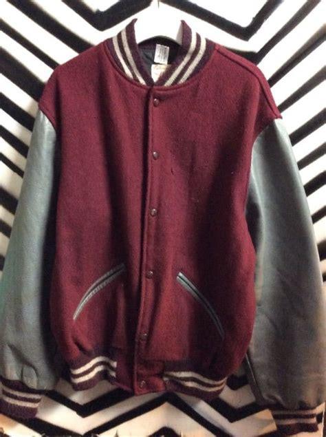 Jaket Bassic Varsity Pria 1960s basic varsity letterman jacket wool leather 187 boardwalk vintage