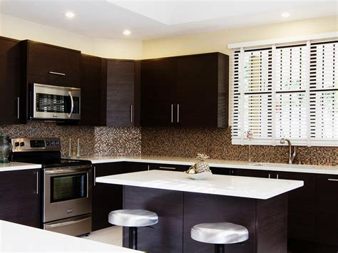 contemporary backsplash kitchen contemporary kitchen backsplash ideas with dark
