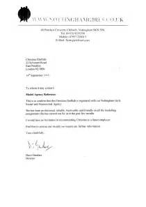 Cover Letter For Placement Agency by Acting Modeling Reference Letters Chelliah