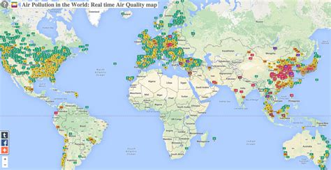 a quality world map map shows worldwide air pollution business insider