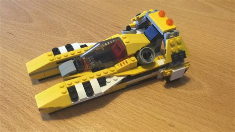 lego city yellow boat lego f1 race car to speed boat speed build creator