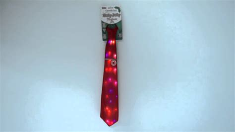 holly jolly singing light up christmas tie by chantilly