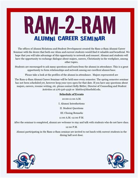 ram careers ram 2 ram alumni career seminar bluefield college