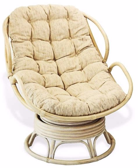 handmade rattan wicker swivel rocking chelsea papasan
