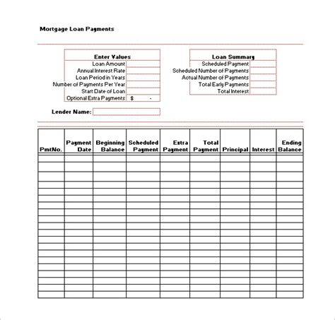 11 Loan Payment Schedule Templates Free Word Excel Pdf Format Download Free Premium Loan Payment Chart Template