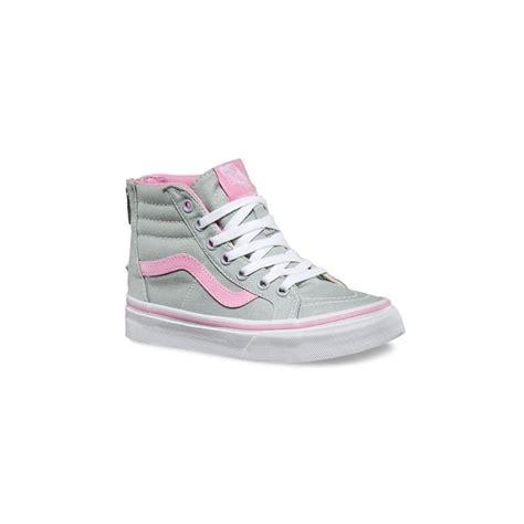 Vans Authentic Grey Pink Icc Premium vans shoes sk8 hi zip youths grey pink sizes 11 4 kid s shoes nz foot forward shoes