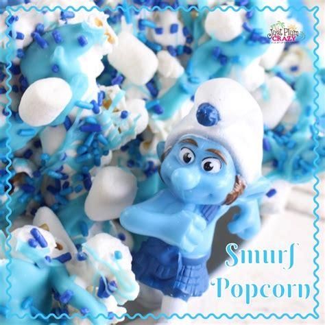 Smurf Popcorn Jamur Dari Xxi easy papa smurf popcorn recipe just plum