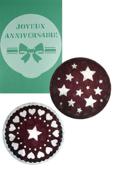 cake decorating stencils image gallery joyeux anniversaire hearts
