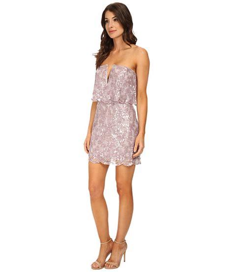 Wst 17230 Hem Sequined Dress bcbgmaxazria kate sequined strapless dress lilac mauve