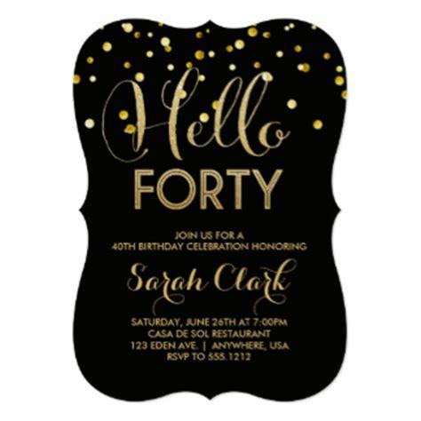 40th birthday invitations amp announcements zazzle com au