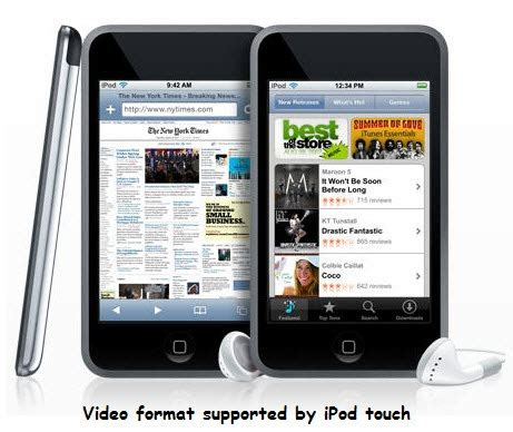 format video ipod supported ipod touch video formats