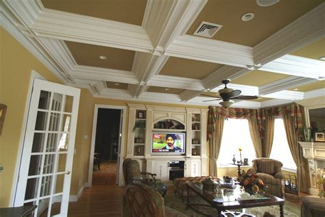 How To Create A Coffered Ceiling by Coffered Ceiling Molding Toms River Nj Patch