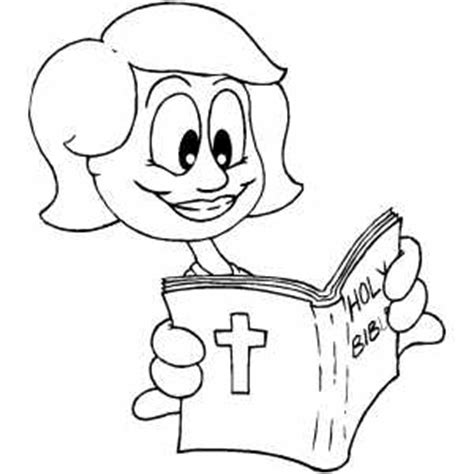 coloring page girl reading girl reading bible coloring page