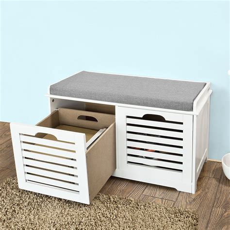 shoe bench with drawers shoe cabinet shoe bench white storage bench 2 drawers