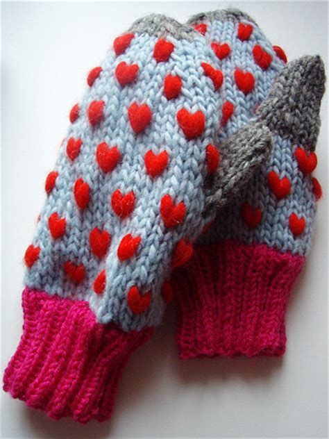 heart mittens pattern heart knitting patterns in the loop knitting