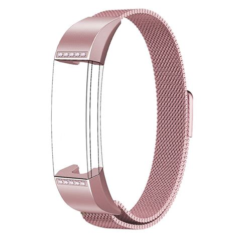 pink band swees milanese loop stainless steel replacement band for