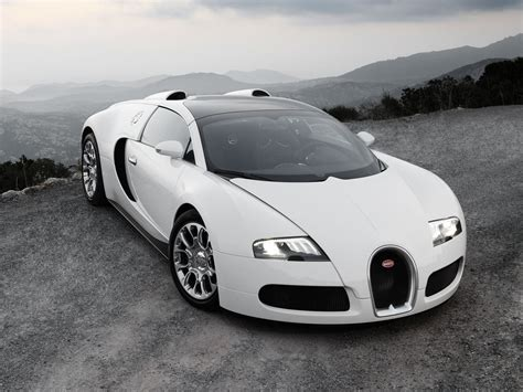 Super Jump Cars White Bugatti Veyron Wallpaper